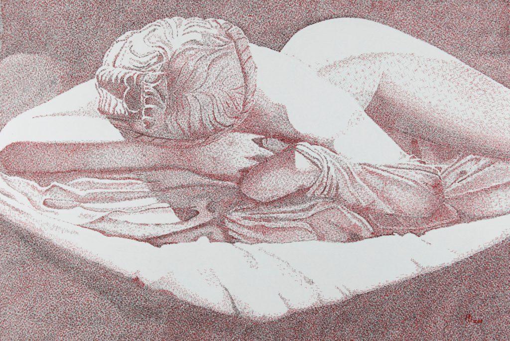 Hermaphrodit - Tusche auf Zeichenpapier, 70x100 cm, 2400 €