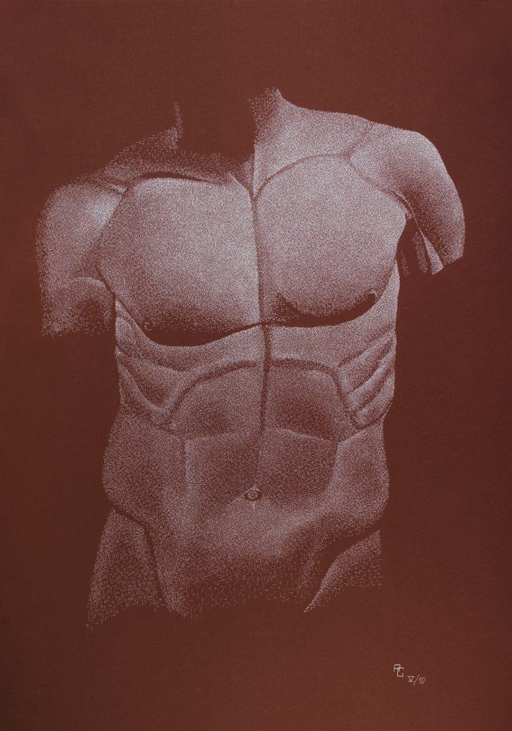 Torso - Tusche auf Fotokarton, 70x100 cm, 1800 €