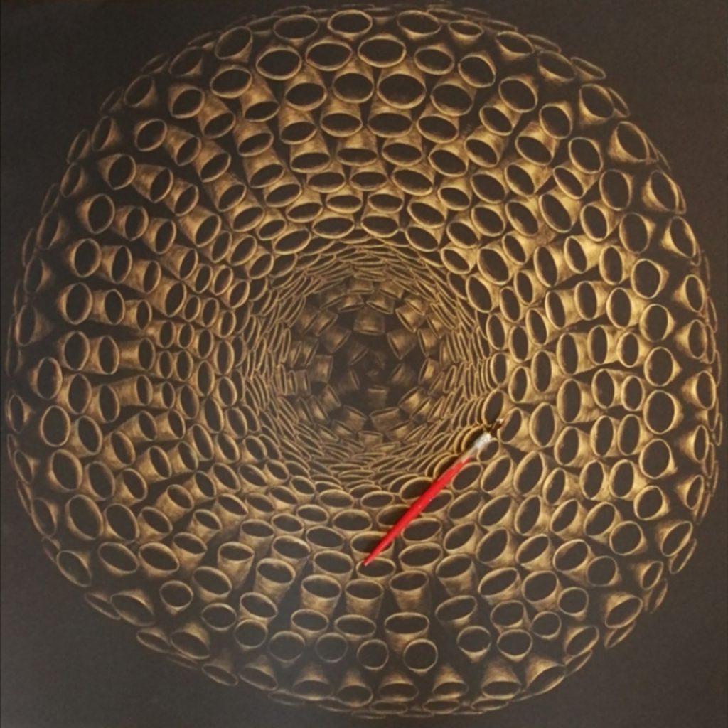 Omphalos, Tusche auf Fotokarton, 70x70cm, 2100€