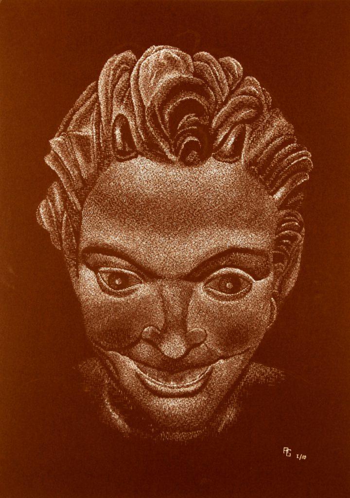 Satyr - Tusche auf Fotokarton, 50x70 cm, 900 €